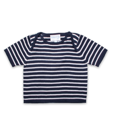 Striped Baby T-Shirt in Navy/White