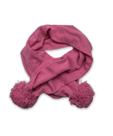 Cashmere Pom Scarf in Bright Pink