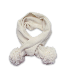 Cashmere Pom Scarf in Creme