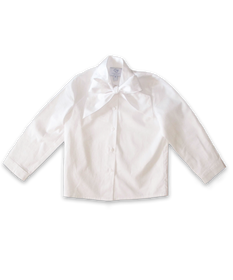 Blouse with Bow in White