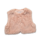 Faux Fur Vest in Pink