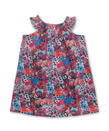 Ruffle Sleeve Peasant Dress in Liberty Small Artists Bloom