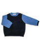 Colorblock Sweater w/Sleeve Navy and French Blue