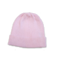 cotton ribbed hat in pink