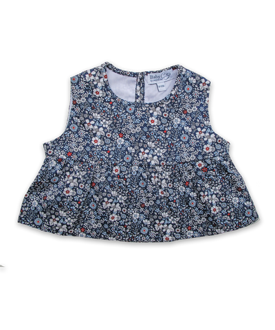 Ava Top in Ditsy Navy Floral