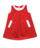 Nadine Dress in Red Pique'