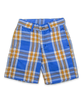Sporty Short in Bright Blue Plaid