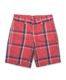 Sporty Short in Burnt Orange Plaid