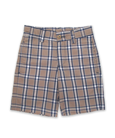 Sporty Short in Khaki Plaid