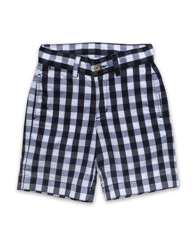 Sporty Short in Navy Bold Check