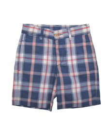 Sporty Short in Navy Plaid