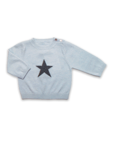 Cashmere Star Sweater in Blue