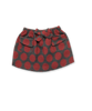 Casual Skirt in Bold Red Dot