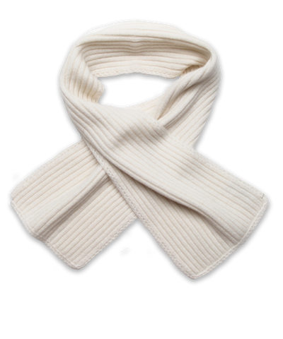 Ribbed Scarf in Creme