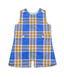 Shortall in Bright Blue Plaid