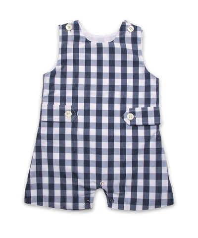 Shortall in Navy Bold Check
