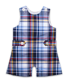 Shortall in Navy Multiplaid