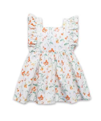Heidi Dress in Dainty Floral Coral