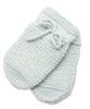 Baby Cashmere Mittens in Blue
