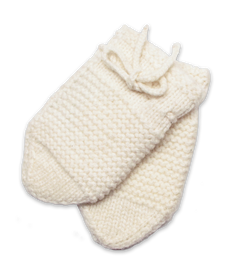 Baby Cashmere Mittens in Creme