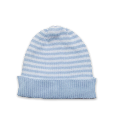 Tiny Stripe Hat in Blue/White
