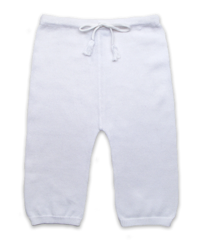 Knit Cotton Pant in White