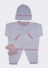 The Button Me Up Set in White/Pink
