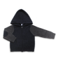 Cashmere Colorblock Hoodie Navy and Derby Gray