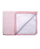 Cotton Striped Blanket in Pink/White