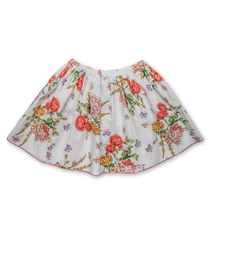 Cotton Skirt in Vintage Floral