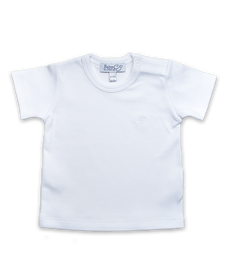 Cotton Shortsleeve Tee in White