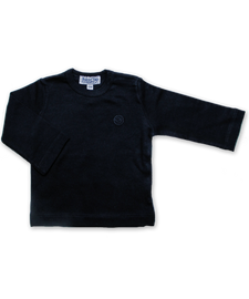 Pima Cotton Longsleeve Tee in Navy