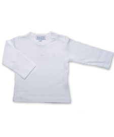 Pima Cotton Longsleeve Tee in White