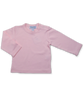 Pima Cotton Longsleeve Tee w/ Crochet in Pink