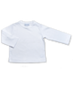 Pima Cotton Longsleeve Tee w/ Crochet in White
