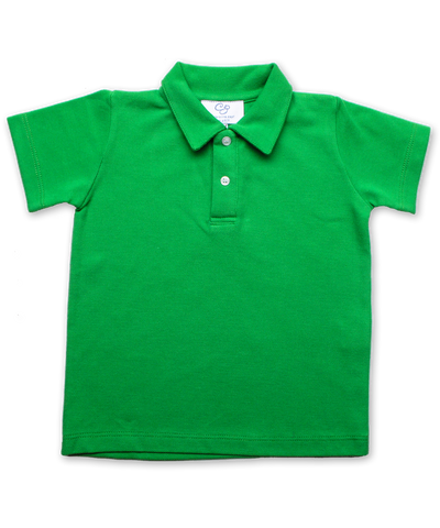 Pique` Cotton Polo in Green