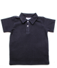 piqué cotton polo, navy