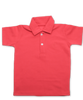 Pique' Cotton Polo in Pimento