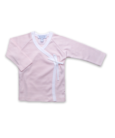 Pima Wrap Top in Pink