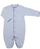 jewel-neck onesie with crochet in Tiny Dot Print, Navy