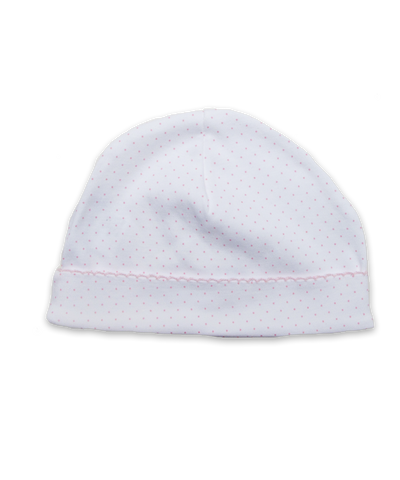 Pima hat with crochet in Tiny Dot Pink
