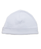 Pima hat with crochet, white