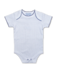 short-sleeved onesie in Tiny Dot print, navy