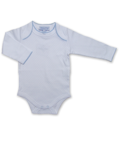 Long Sleeve Bodysuit in Tiny Dot Blue