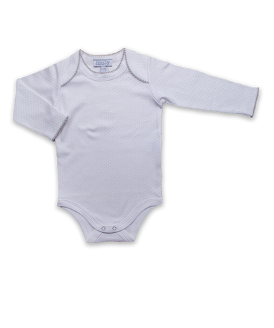 Long Sleeve Bodysuit in Tiny Dot Silver