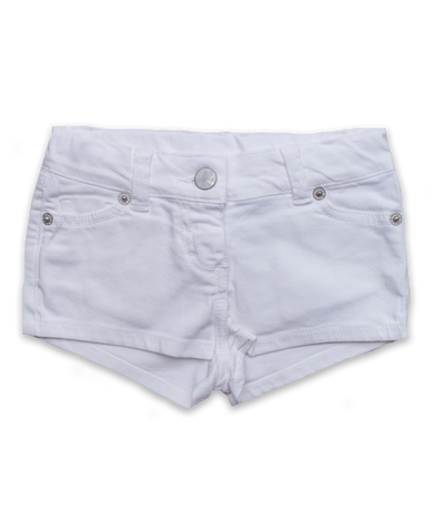 Denim Short in White