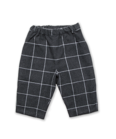 Baby Pant in Charcoal Check