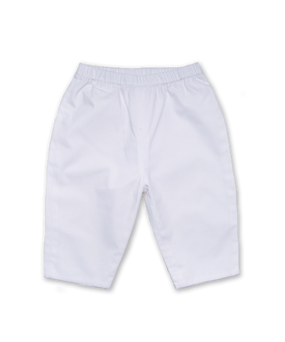 Cotton Baby Pant in White