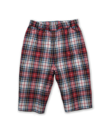 Baby Pant in White/Red Plaid