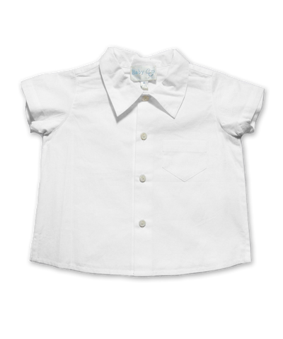 Baby Boy Shirt in White
